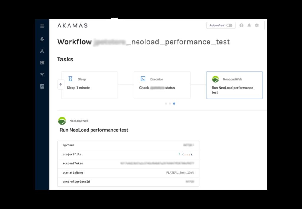 Akamas Neoload integration