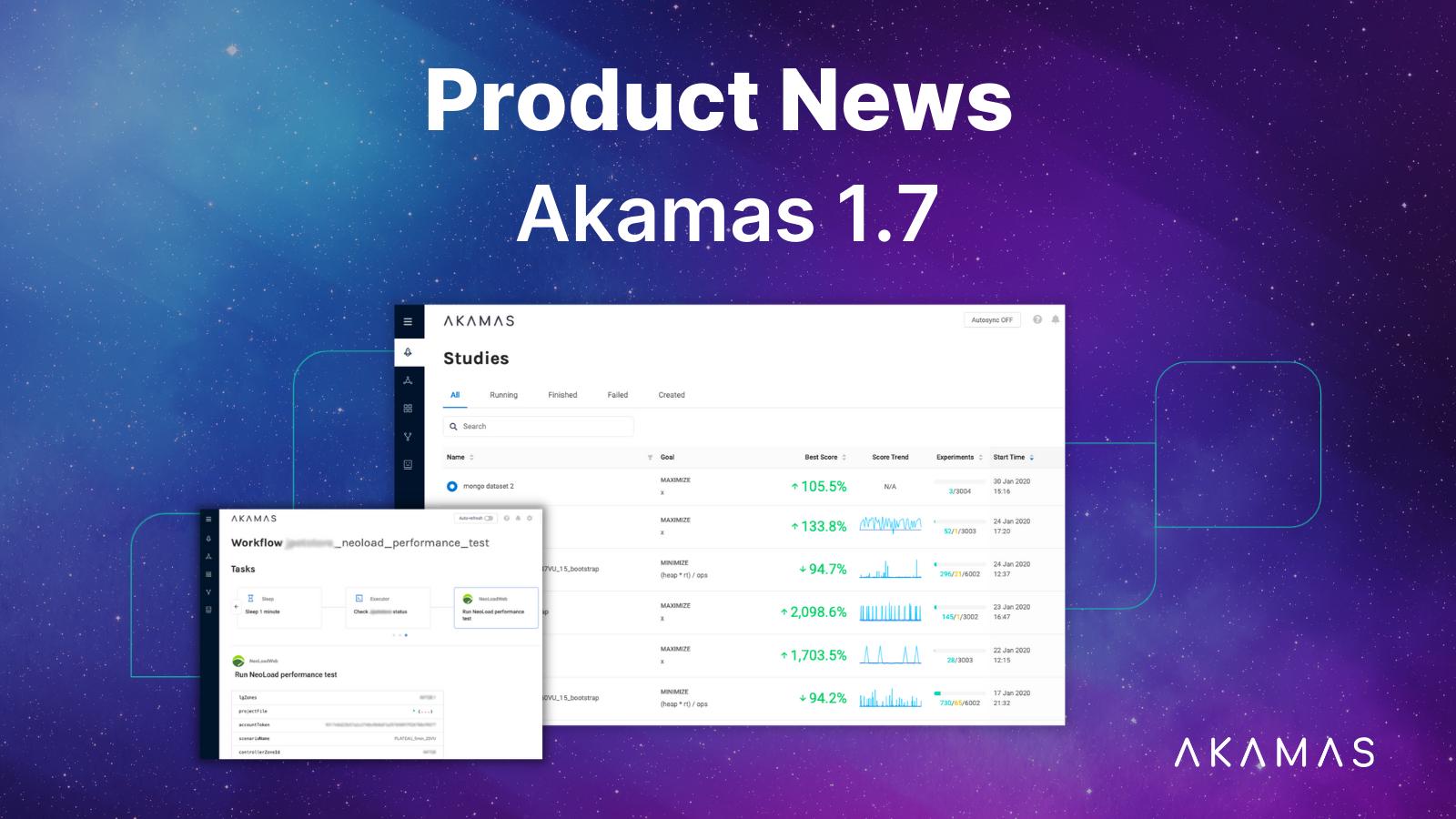 Akamas Product news 1.7