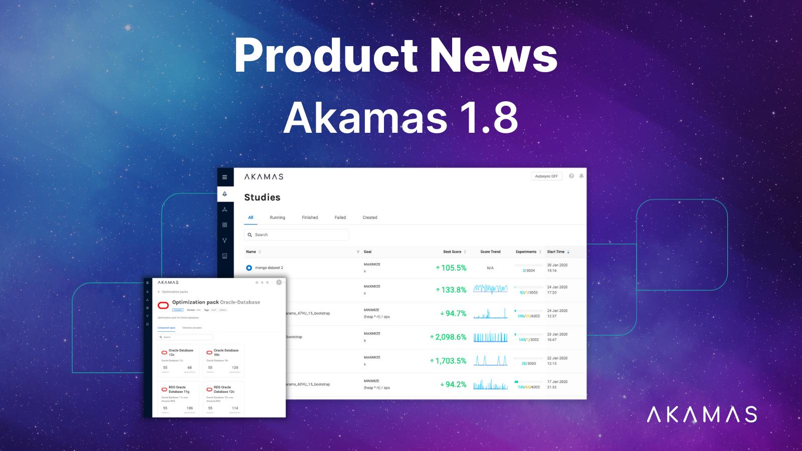 Akamas Product news 1.8