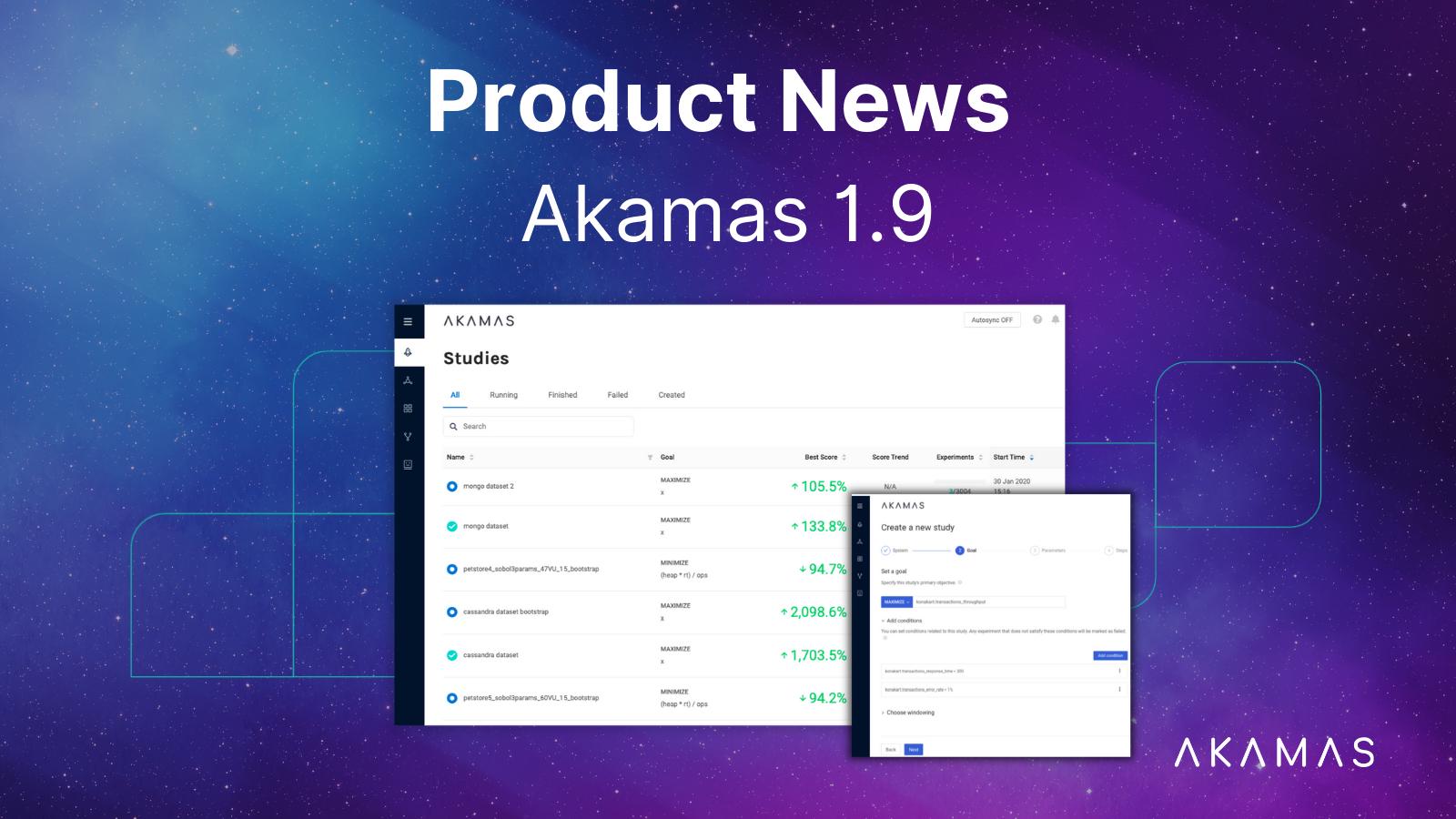 Akamas Product news 1.9