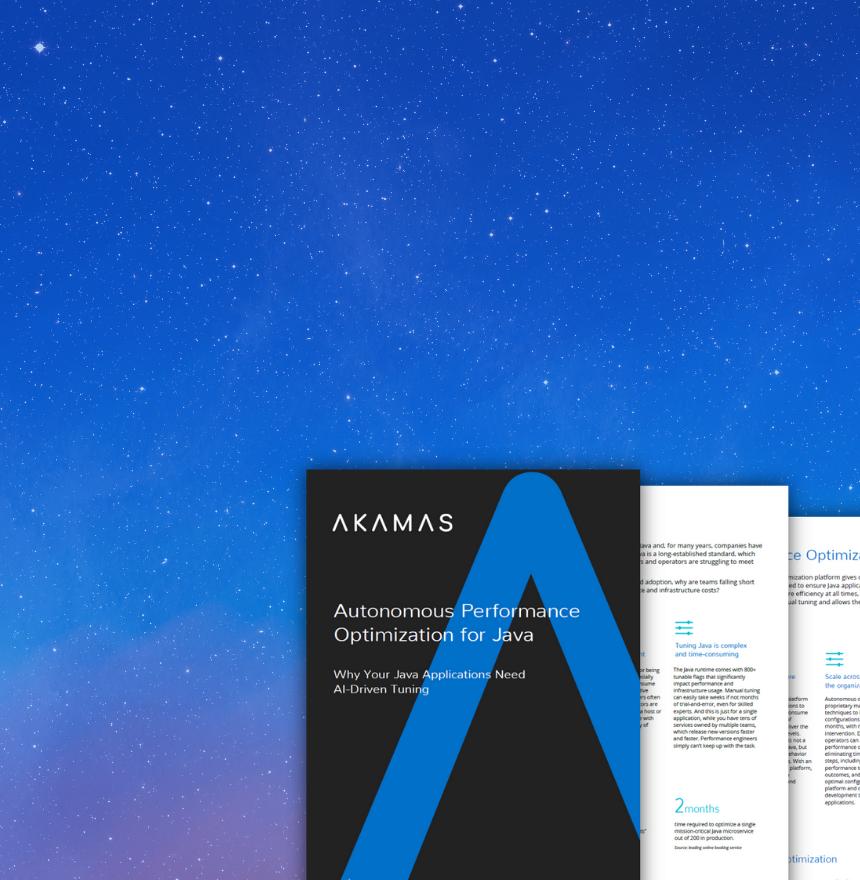 Akamas Java Solution brief