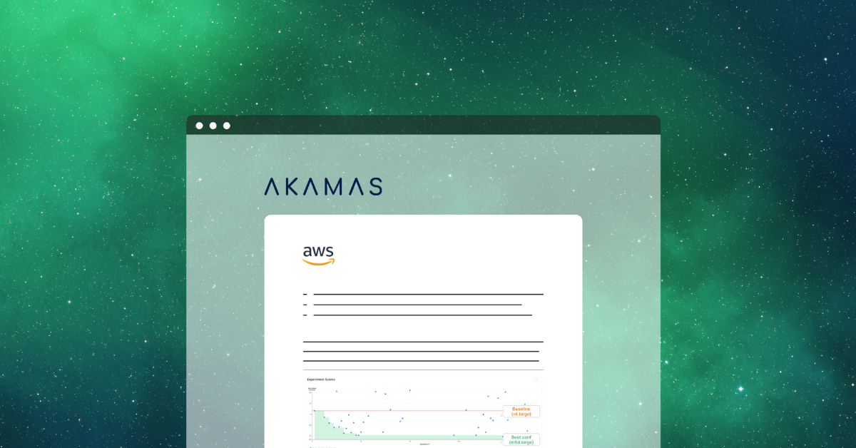 Akamas cloud optimization insights