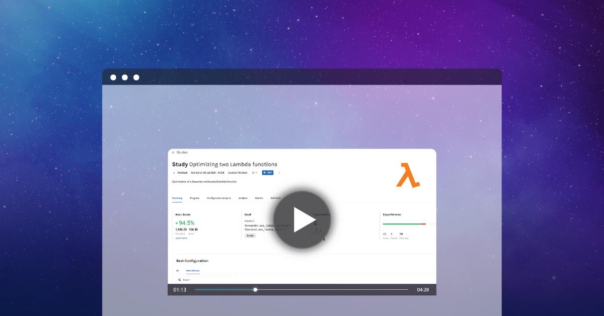 Video Akamas optimize Lambda
